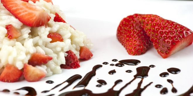 Risotto with strawberries and Balsamic