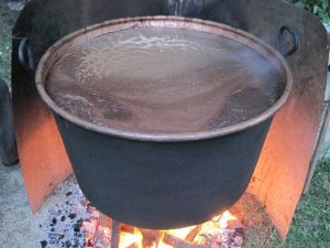 The boiling of grape must