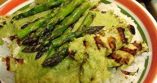 Risotto with asparagus goat cheese and original Balsamic Vinegar