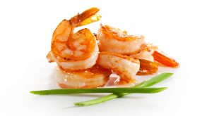 toasts with sauted prawn and original balsamic vinegar