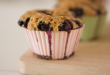 Muffins with blueberries and Traditional Balsamic Vinegar