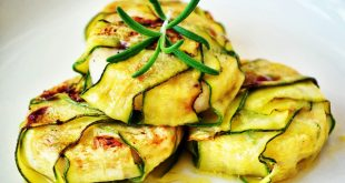 Escalopes with zucchinis and balsamic vinegar