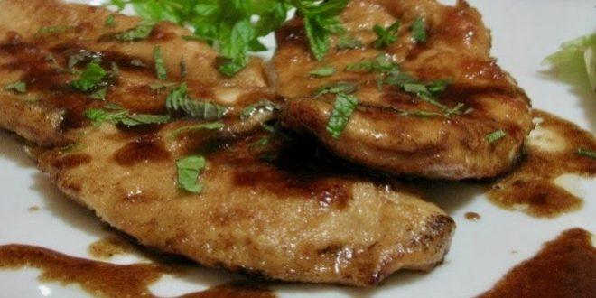 Escalopes with Balsamic Vinegar