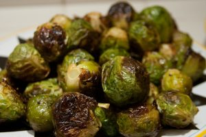 Brussels sprouts and chestnuts with Prosciutto and original Balsamic Vinegar