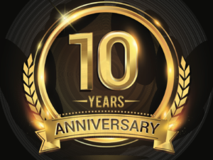 10th anniversary of its registration