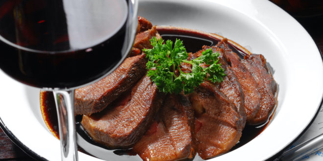Braised Lingua with Balsamic Vinegar