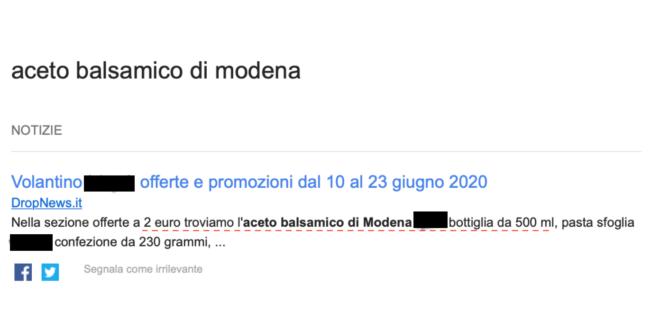 Balsamic Vinegar of Modena price