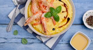 Polenta with shrimps and Balsamic Vinegar