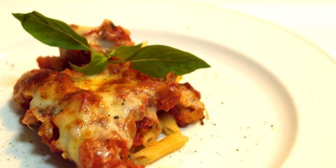 Pasta au gratin with Balsamic Vinegar